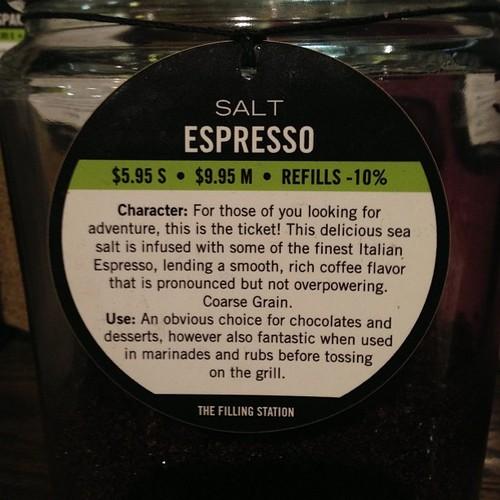 Espresso Brava Sea Salt - Fusion ® photo credit :GSERVO