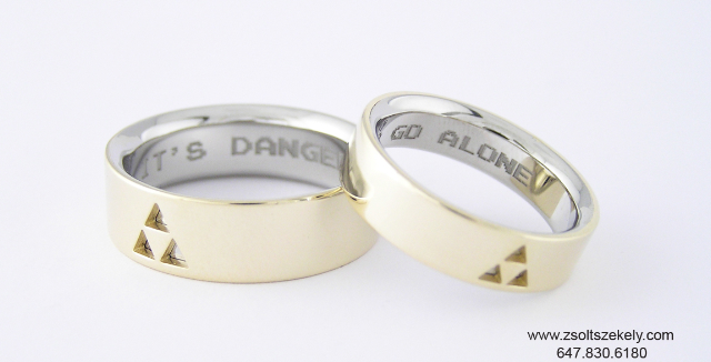 Zsoltszekely.com Zelda Wedding Bands
