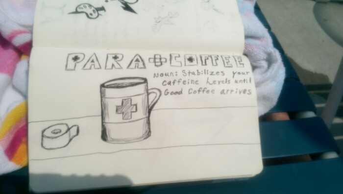 Coffee doodle: para coffee